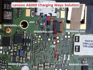 Lenovo A6000 Charging Ways Solution Usb Jumper