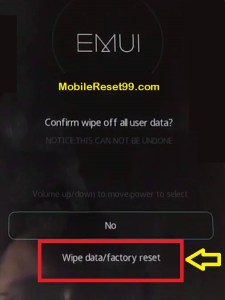 Hard Reset - Wipe data 2 Option