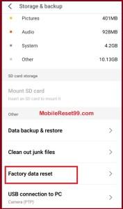 Meizu 5.0 [lalipop] Factory data reset