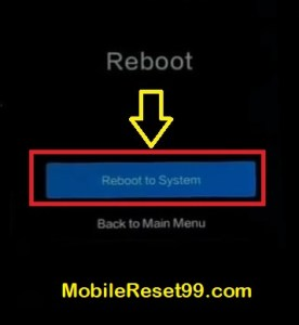 Hard Reset - Reboot to system option