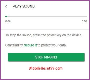 Android Device Manager - play sound option