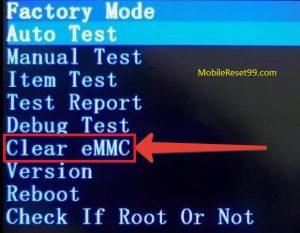 Clear eMMC