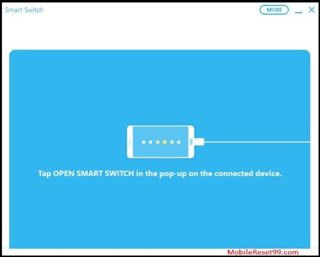 Open smart switch app on phone