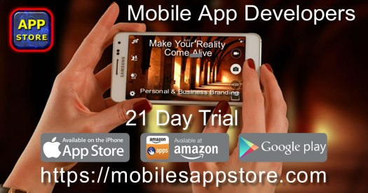 Mobiles App Store Banner