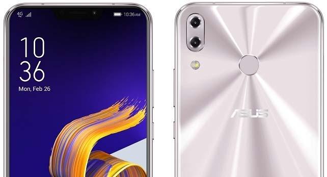 White Asus Zenfone 5 Mobile