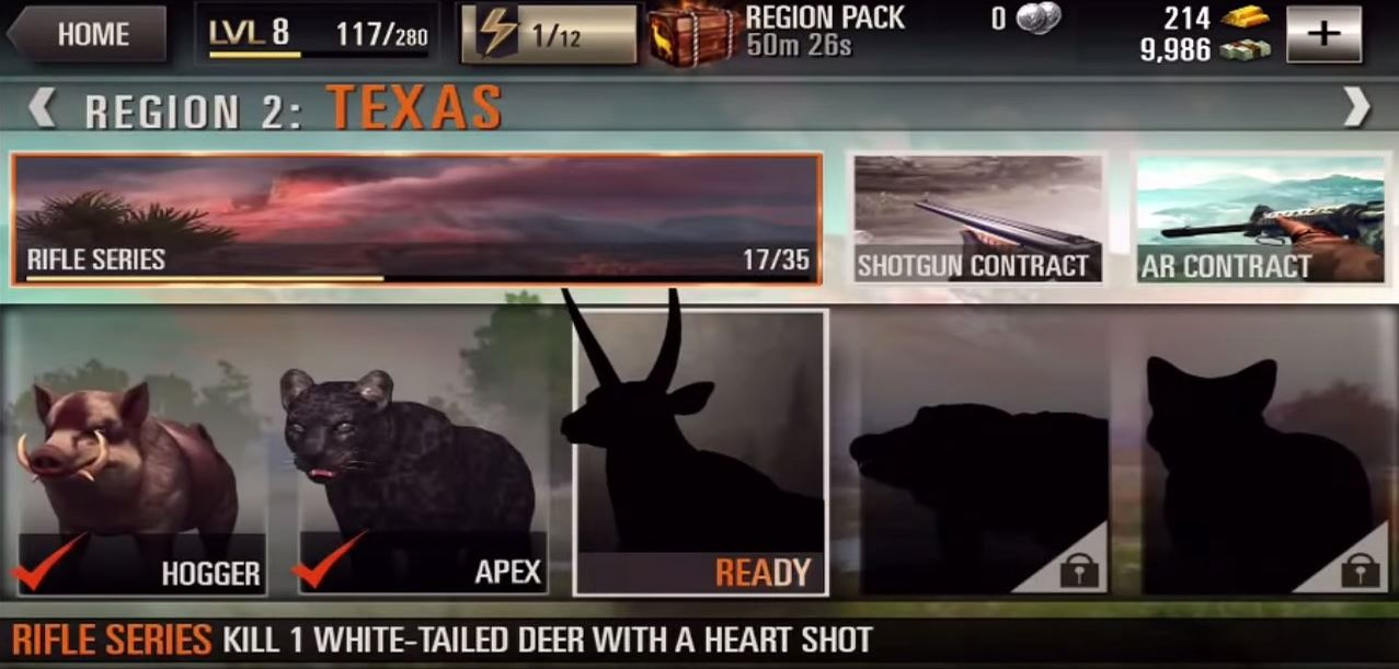 Deer Hunter 2016 apk android, pc et ios