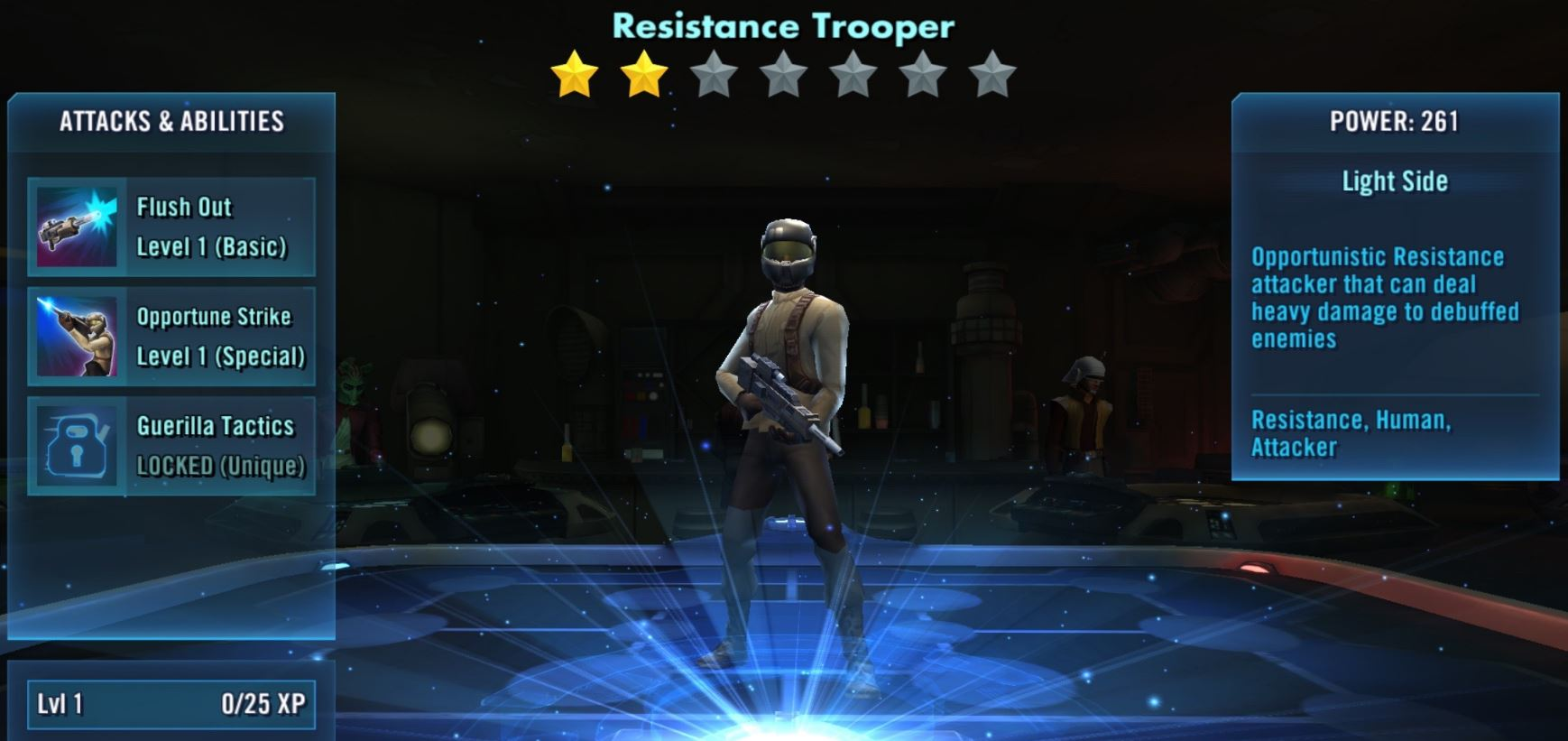Resistance Trooper Review – Star Wars: Galaxy of Heroes |