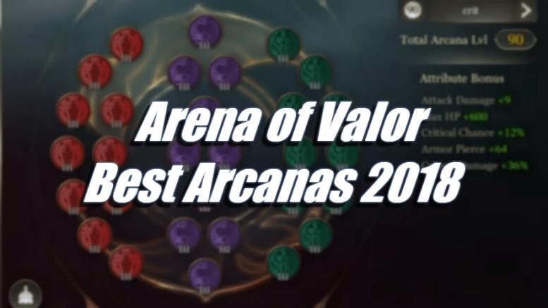 Best Arcanas 2018 – Arena of Valor