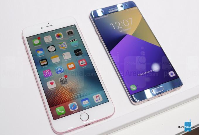 Galaxy Note7 vs iPhone 6s Plus