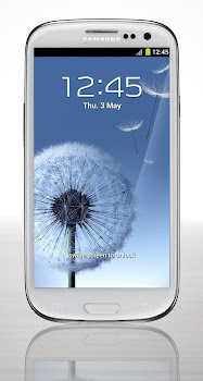 GALAXY S3 Marble White Front