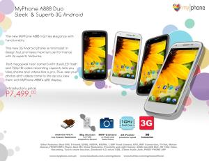MyPhone A888 Duo Promo Graphic