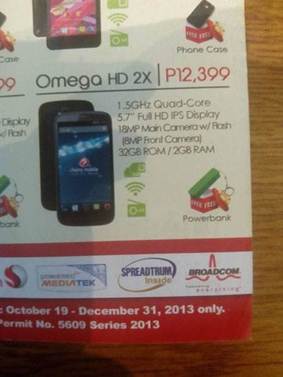 Cherry Mobile Omega HD 2X Leaked Flyer