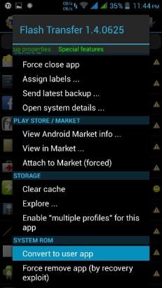 Titanium Backup - uninstall system app image 1
