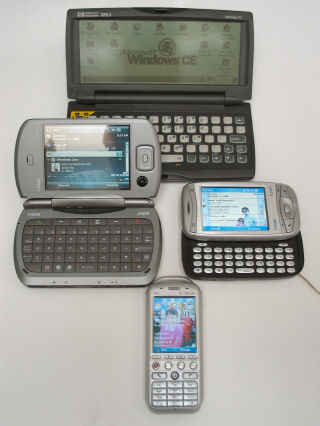 HP320LX with Windows Mobile 5 Devices