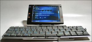HTC Advantage with Thinkoutside Bluetooth Keyboard