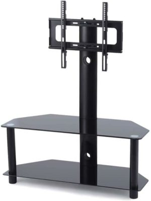 TAVR Furniture Glass Floor TV Stand