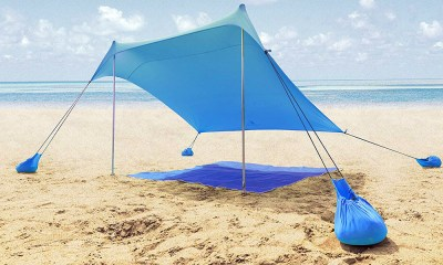 ALPHA CAMP Beach Shade Portable Canopy Sun Shelter