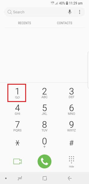 How to Set Up Voicemail on the Galaxy S9