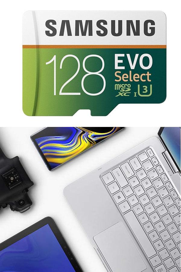 Samsung 128GB MicroSD EVO Select Memory Card with Adapter
