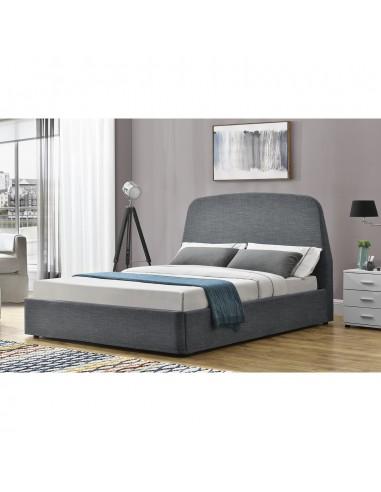 lit pauline gris avec coffre 160x200