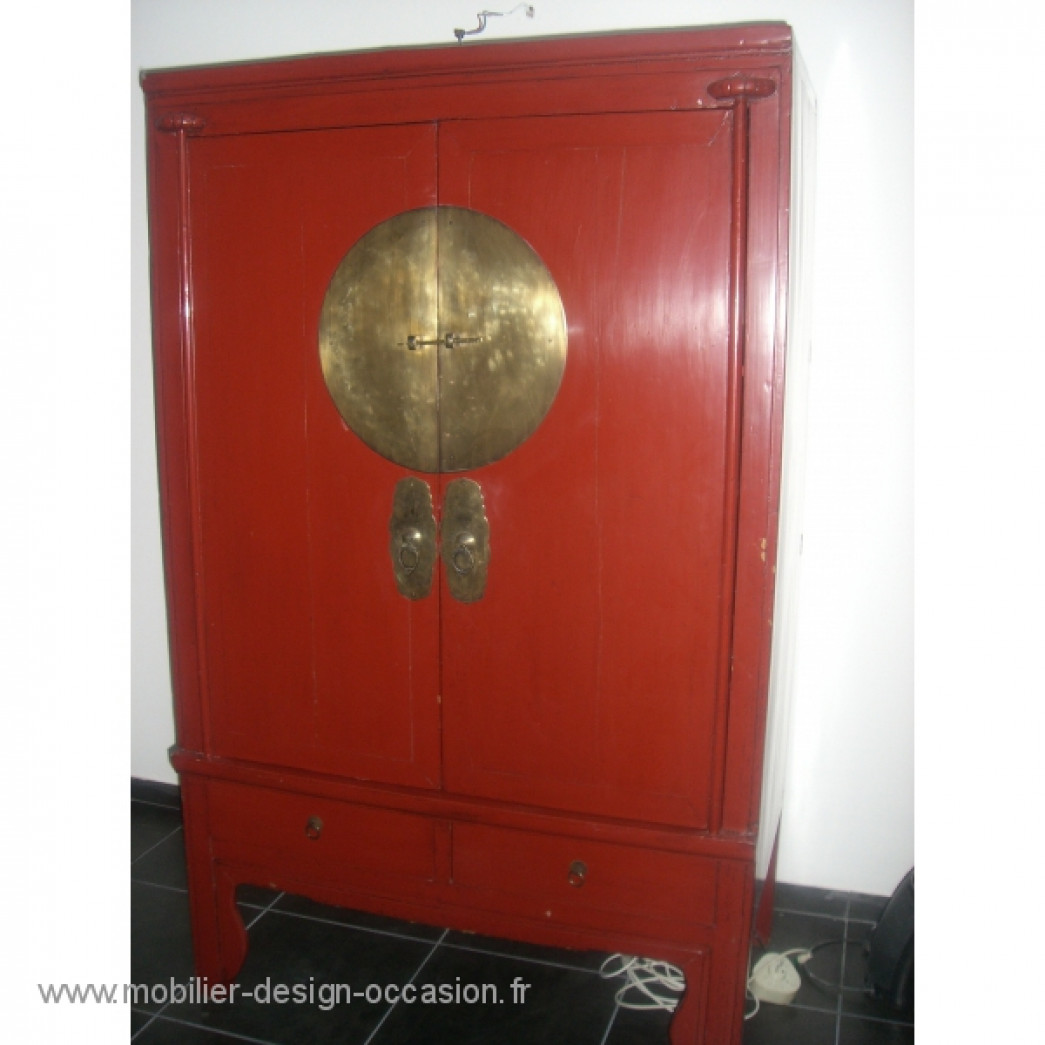 Armoire De Marie Chinoise Rouge