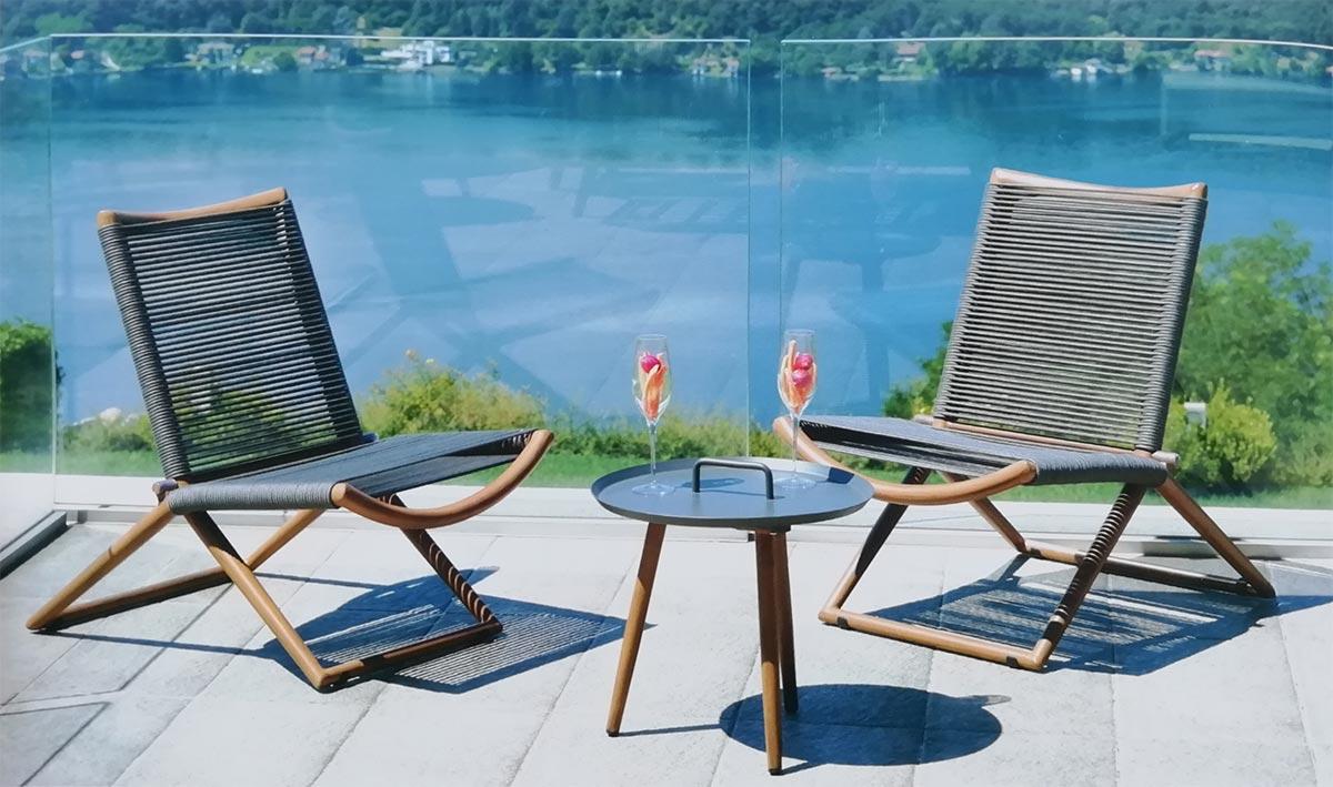 salon de jardin bas balcon bormio 3 pieces 2 chaises pliantes 1 table basse