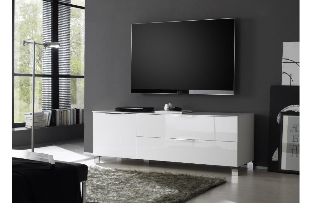 Meuble Tv Haut Laque Blanc
