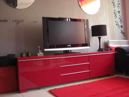 Meuble Salon Rouge