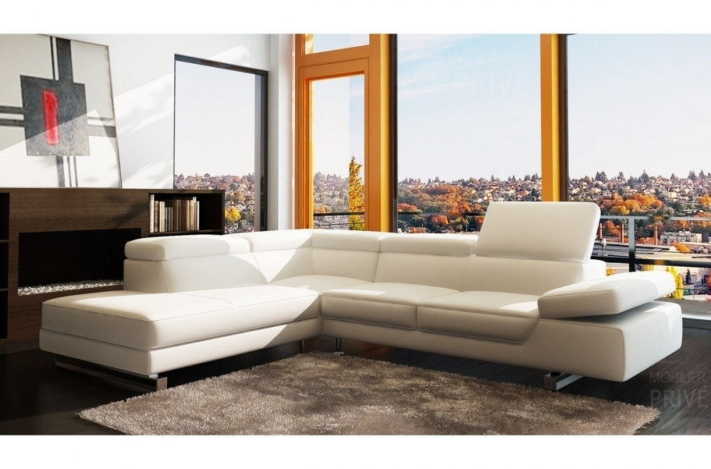 canape d angle en cuir prestige luxe italien 5 6 places grand george blanc angle gauche