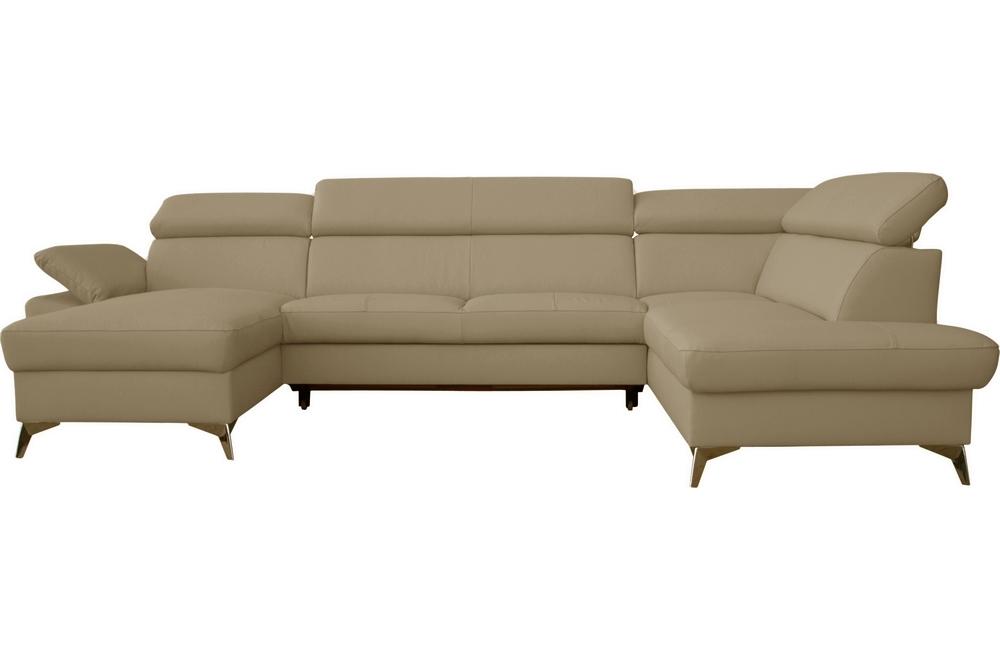canape d angle convertible en cuir italien de luxe 7 8 places warini avec coffre beige angle droit