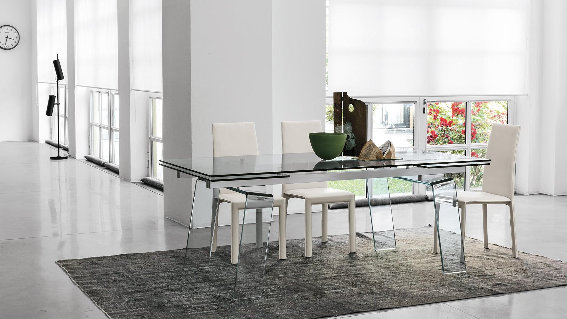 table de repas extensible crystal une
