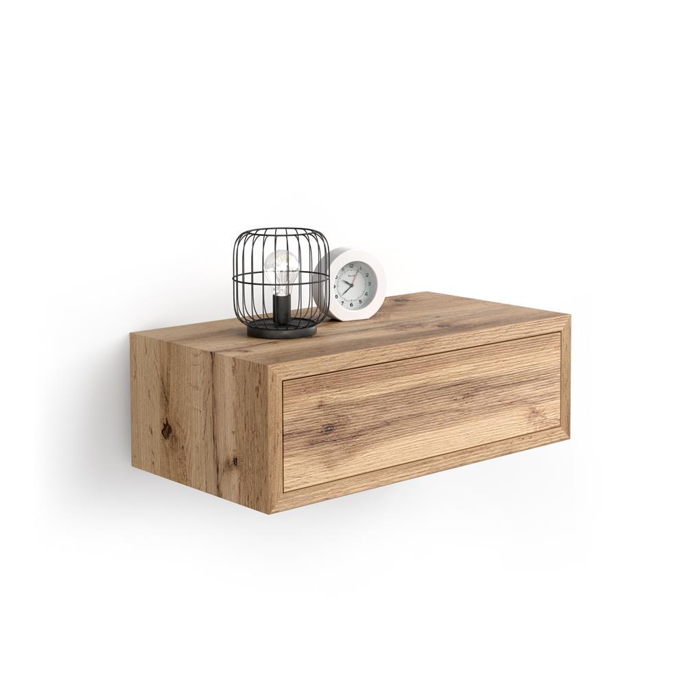 Table De Chevet Suspendue Riccardo Bois Rustique Mobili Fiver