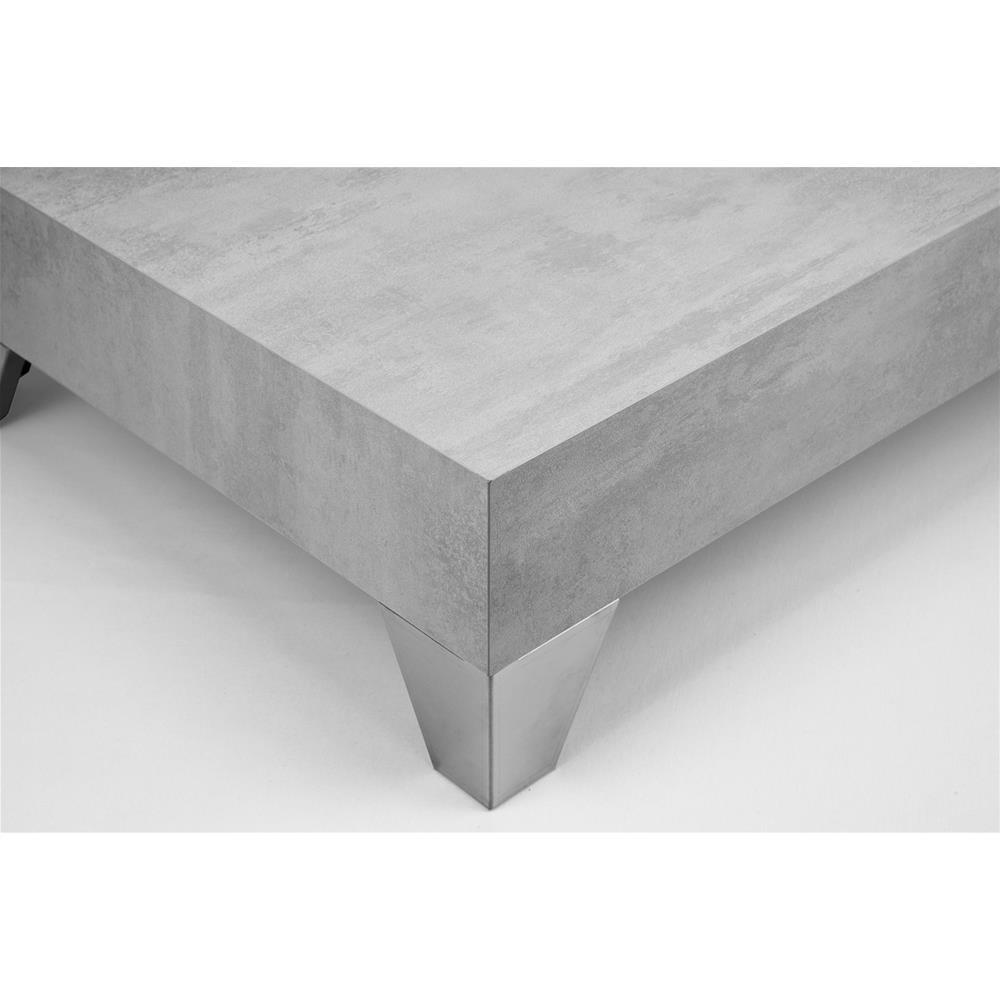 lot de 4 pieds pour table basse evolution en acier inoxydable