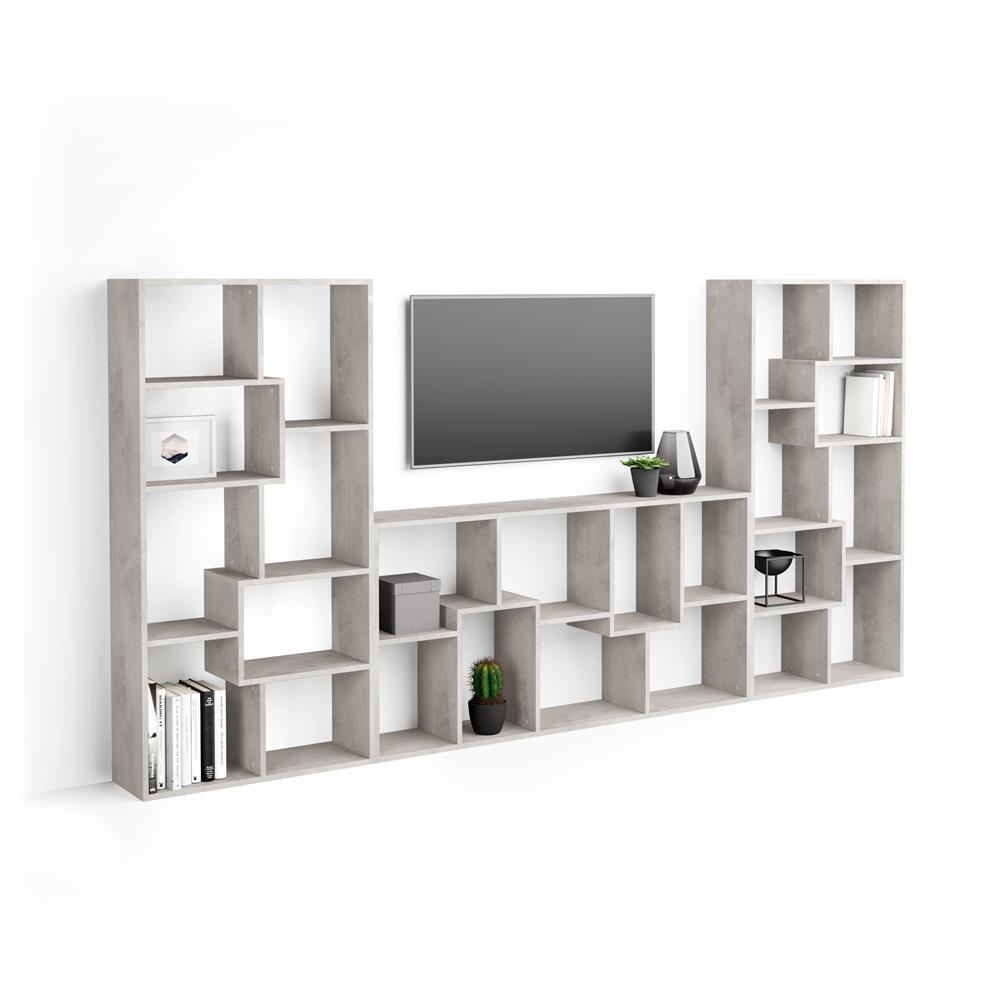 meuble tv mural iacopo gris beton