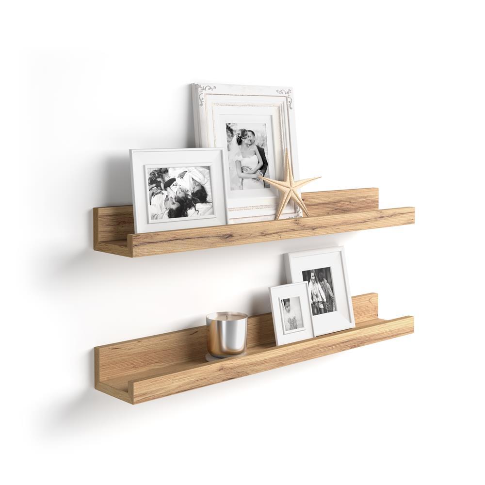 paire d etageres porte cadre first 80 cm bois rustique