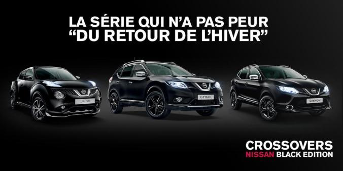 Nissan crossovers black edition