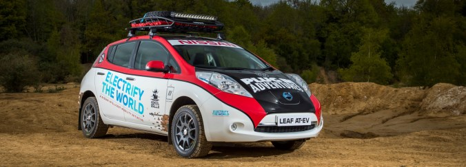 Nissan Leaf AT-AV au Mongol Rally