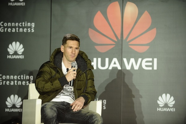 Lionel Messi talking about his affinity with Huawei
