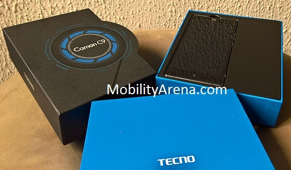 TECNO Camon C9 Photos box open