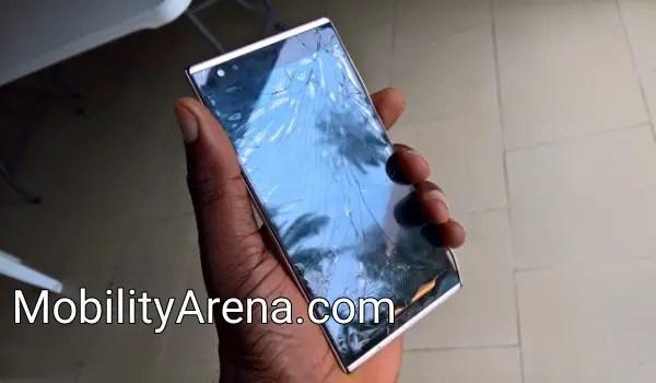 Broken screen - gorilla glass 5 to the rescue