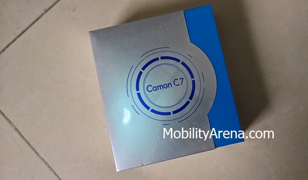 Camon C7 Unboxing - box