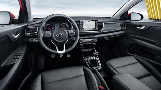 The comfy internals of the 2017 Kia Rio