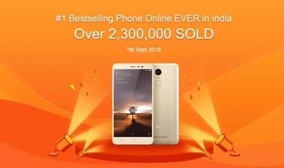 Xiaomi Redmi Note 3 India bestseller