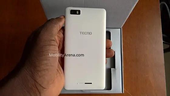 TECNO W3 review back