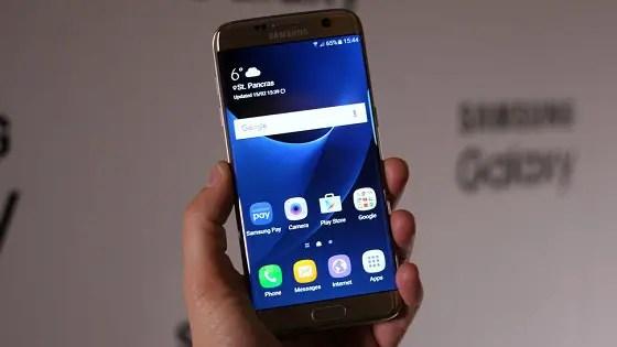 flagship mobile Samsung Galaxy S7 Edge
