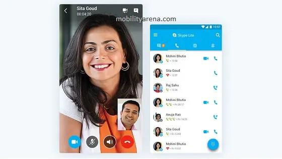 Skype Lite ui