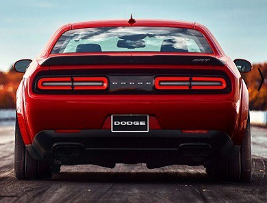2018 Challenger SRT Demon rear