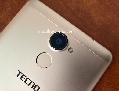TECNO L9 Plus rear camera fingerprint scanner