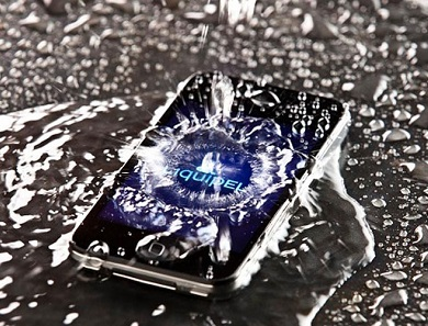 water-damaged smartphones