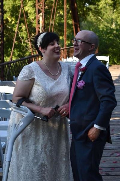 Stephanie is a bride who is standing tall, despite managing her Cerebral Palsy